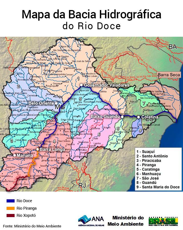 O rio virou um rio de lama contaminado desde sua nascente. Fonte: climatempo.com.br
