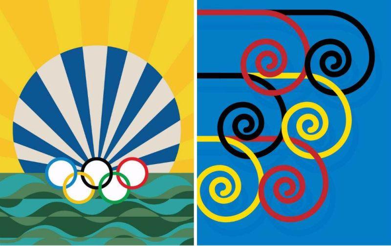 Obras de Beatriz Milhazes e Guto Lacaz fazem parte da coleção que ajuda a ilustrar os Jogos Rio 2016 (Foto: Rio 2016)