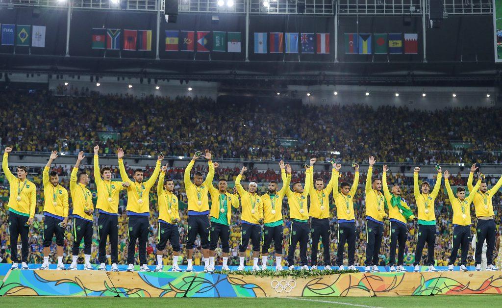 Time campeão olímpico de futebol (Ricardo Stuckert/CBF)