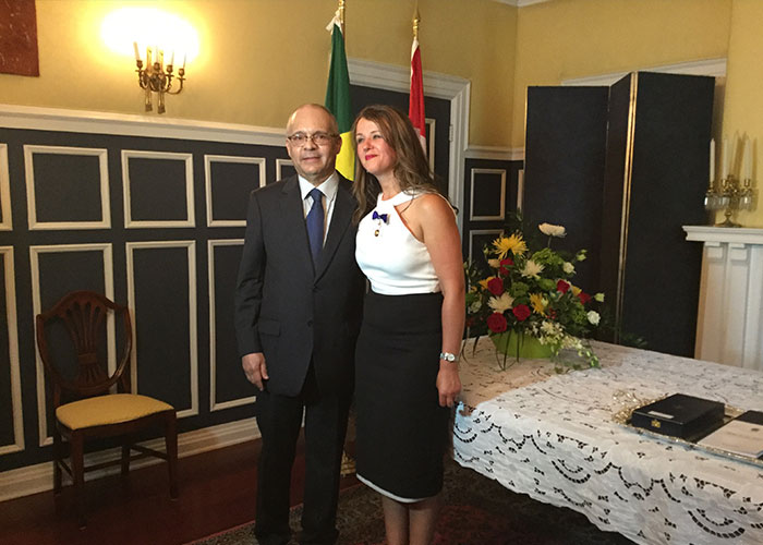 Julie Dzerowicz awarded with the Order of Rio Branco in the category of Grand Officer.