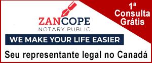 Zancope Notary Public. O seu representante legal no Canadá.