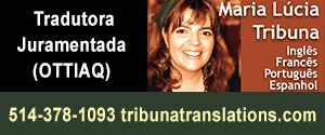 Maria Lucia Tribuna. Tradutora juramentada