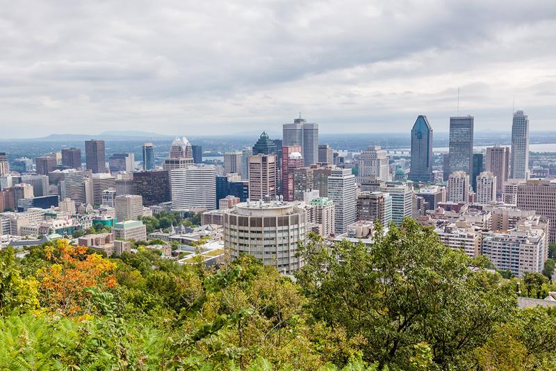 Vista geral da cidade de Montreal, no Canadá